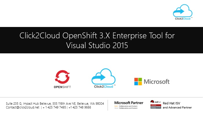Click2Cloud's Docker Container & Kubernetes based Visual Studio Extension for Red Hat OpenShift