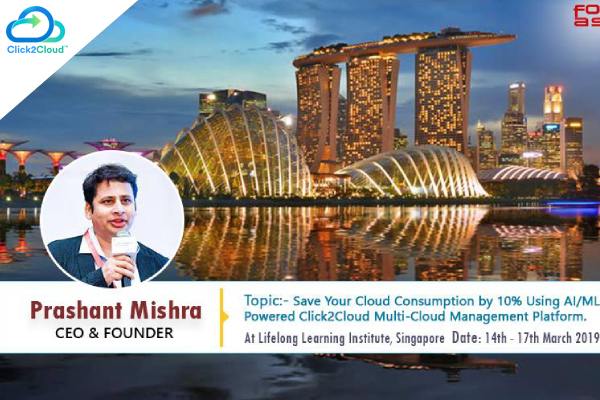 Mr. Prashant Mishra CEO, Click2Cloud Inc. one of the speakers in FOSSASIA summit.