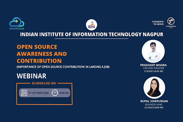 Open Source Technology Webinar at IIIT college