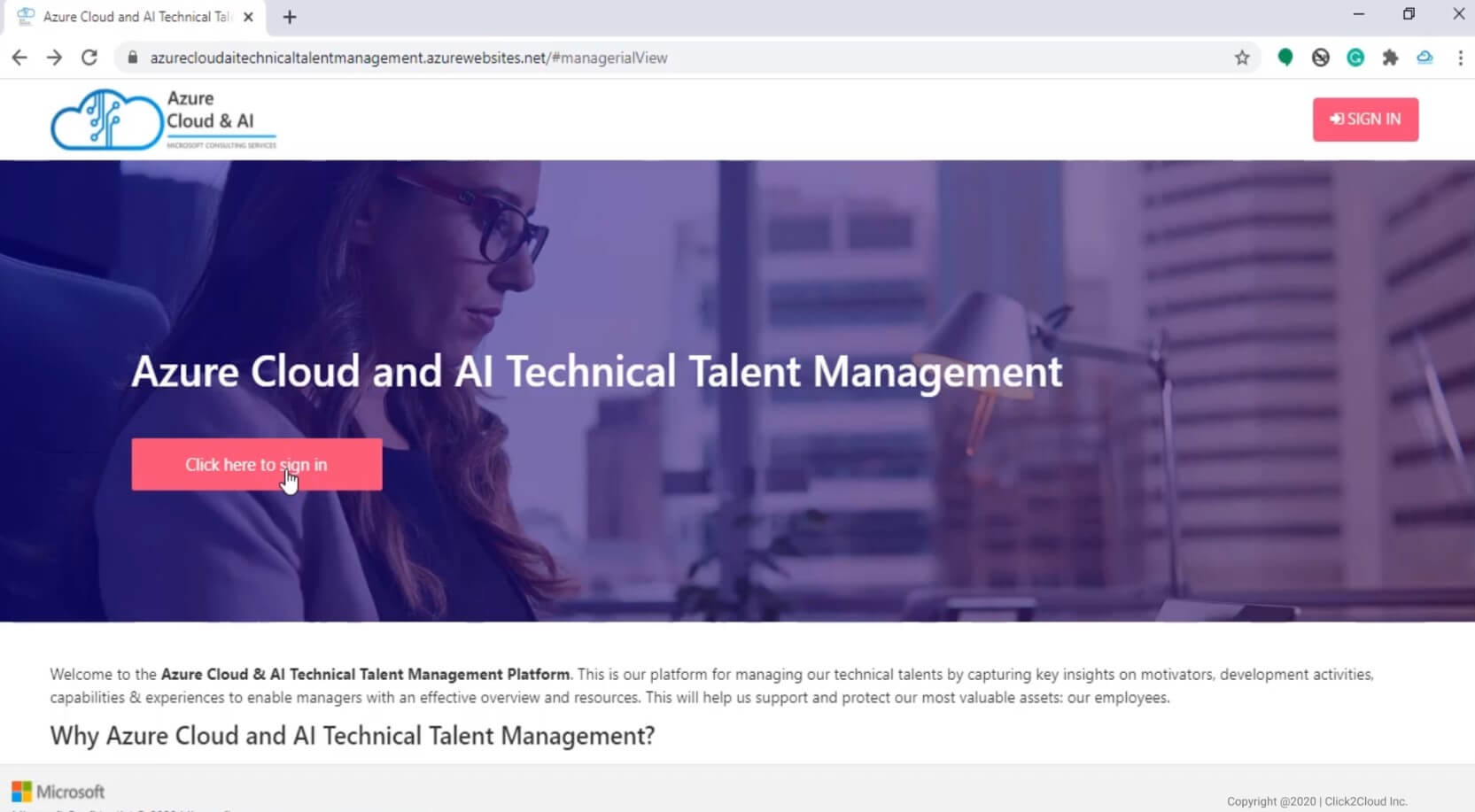 Click2cloud_Azure Cloud AI Technical Talent Management Platform_Video
